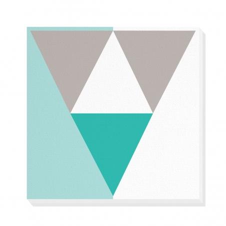 Tablou canvas decorativ Geometric Winter Forest III 50 x 50 cm