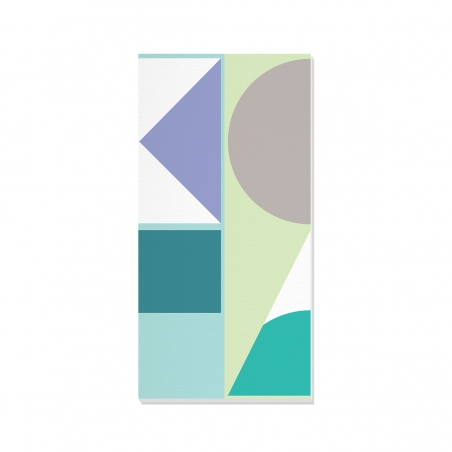 Tablou canvas decorativ Geometric Winter Forest I 50 x 100 cm