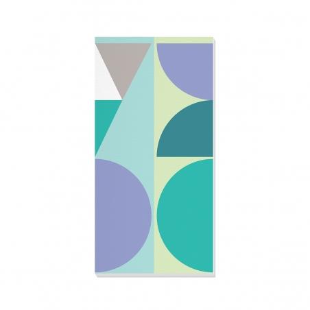 Tablou canvas decorativ Geometric Winter Forest IV 50 x 100 cm