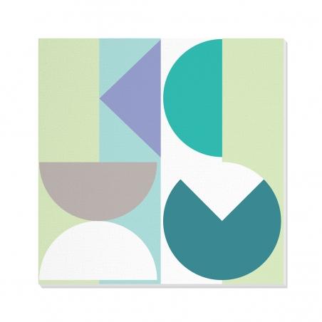 Tablou canvas decorativ Geometric Winter Forest I 100 x 100 cm