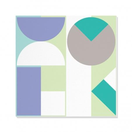 Tablou canvas decorativ Geometric Winter Forest II 100 x 100 cm