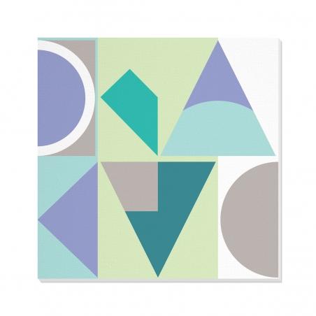 Tablou canvas decorativ Geometric Winter Forest III 100 x 100 cm