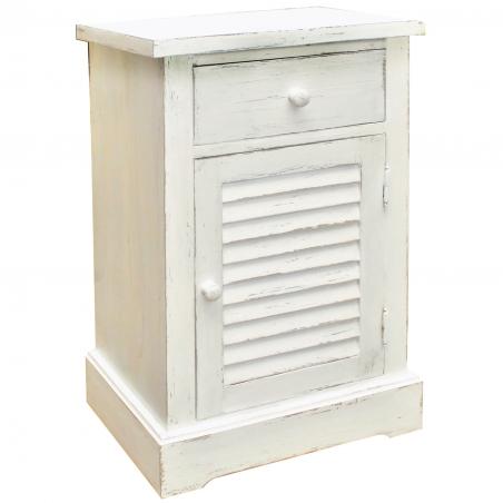 Noptiera dormitor din lemn brad cu usa si sertar 50 x 35 x 79 cm DISD5291217