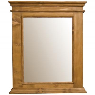 Oglinda vintage cu rama din lemn brad 93 x 110 cm DISD152S1217