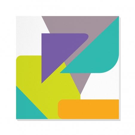 Tablou canvas decorativ Geometric Candy III 100 x 100 cm INTCCAN10031217