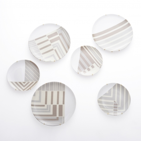 Set farfurii decorative Urban Moon INTFUBM201217