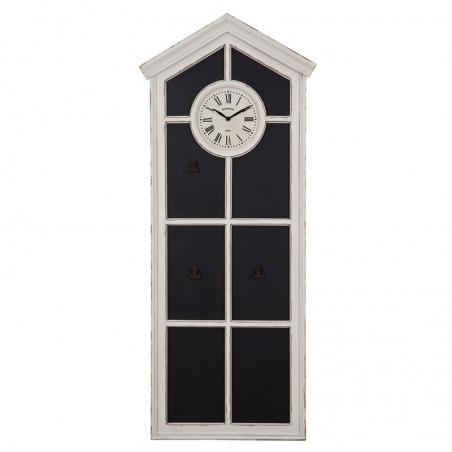 Tabla decorativa din lemn cu ceas alb Trimar Industrial