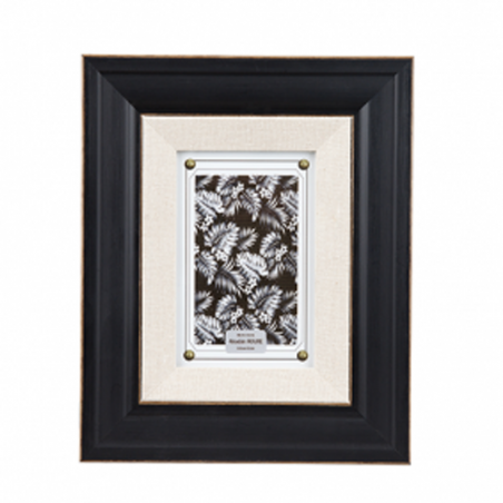 Rama foto Trimar Shabby Chic alb-negru 13 x 18 cm