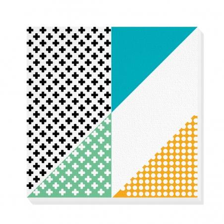 Tablou canvas decorativ Geometric Memphis I 50 x 50 cm