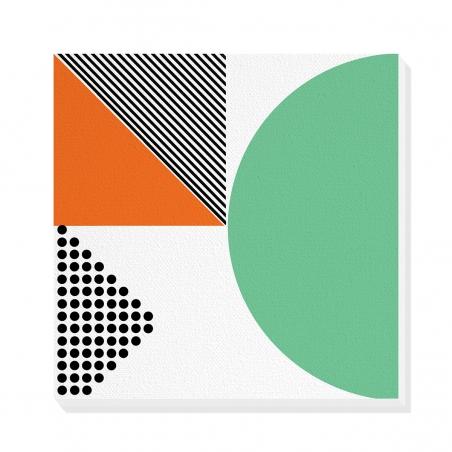 Tablou canvas decorativ Geometric Memphis II 50 x 50 cm