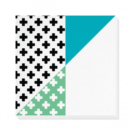 Tablou canvas decorativ Geometric Memphis VI 50 x 50 cm