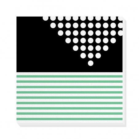 Tablou canvas decorativ Geometric Memphis VII 50 x 50 cm