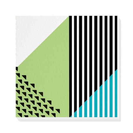 Tablou canvas decorativ Geometric Memphis IX 50 x 50 cm