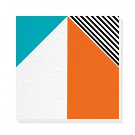 Tablou canvas decorativ Geometric Memphis X 50 x 50 cm