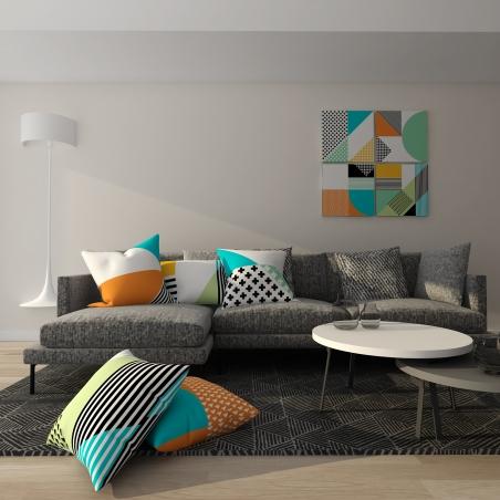 Set tablouri canvas Geometric Memphis 4 bucati 50 x 50 cm