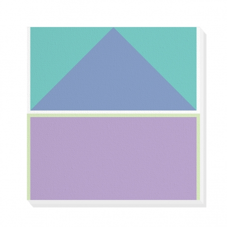 Tablou canvas decorativ Geometric Summer Forest VI 50 x 50 cm