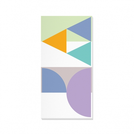 Tablou canvas decorativ Geometric Summer Forest I 50 x 100 cm