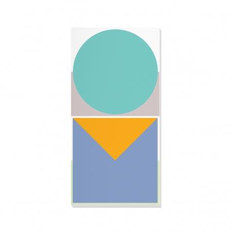 Tablou canvas decorativ Geometric Summer Forest IV 50 x 100 cm
